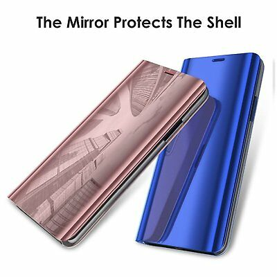 Luxury Mirror View Clear Stylish Flip PU Case Cover For Huawei P20 Lite P20 Pro 7