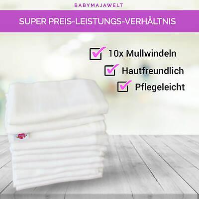 Mullwineln 60 80x80 weiß Spucktücher Stoff Baumwolle Mehrweg Babymajawelt® 2
