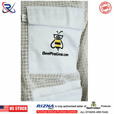 XL SN25 3 Layer Bee Beekeeping Protective Jacket Ventilated Round Veil Beekeeper