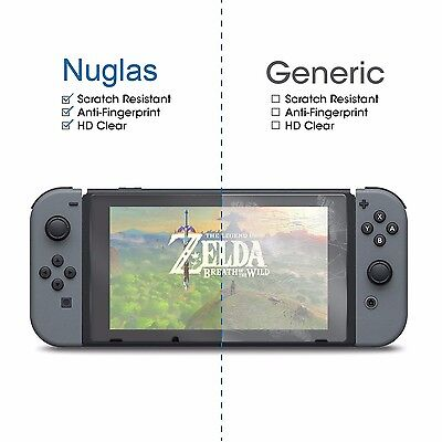 2 X Nuglas Nintendo Switch Tempered Glass Screen Protector for Nintendo Switch 2