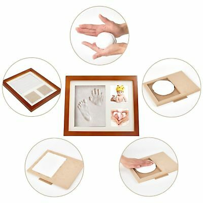 Luxury Baby Foot / Hand Print Clay Kit Wood Photo Frame Ornament Gift 3