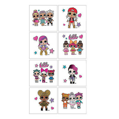 LOL SURPRISE DOLLS STICKER PACK 2 SHEETS BIRTHDAY Party Favors Supplies L.O.L.