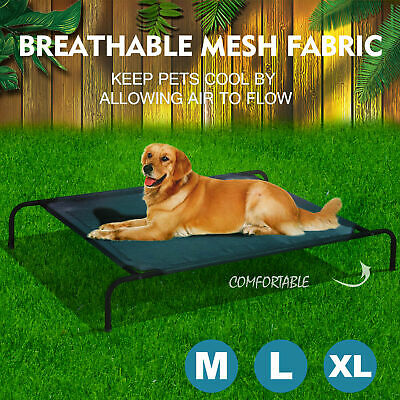 PaWz Bed Trampoline Pet Dog Puppy Cat Heavy Duty Frame Hammock Mesh M L XL AU 3