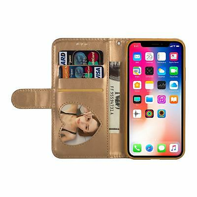 Glitter Bling Leather Zipper Wallet Card Case Cover for iPhone Xs Max/XR/X/7 8+ 6