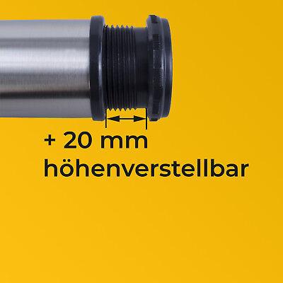 Möbelfuß EDELSTAHL Ø50mm Tischfuß Sockelfuß Sockelfüße Höhenverstellbar Metall