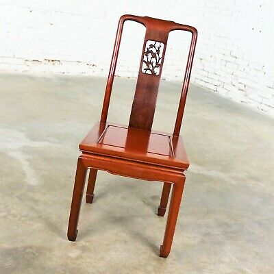Asian Teak Hand Carved Side Chair in the Style of George Zee 6