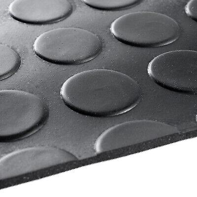 Tappeto antiscivolo gomma nero robusto passatoia zerbino copripavimento bolle 2