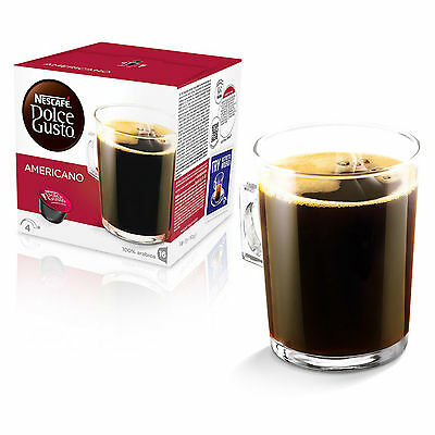 Dolce Gusto Americano Coffee (3 Boxes,Total 48 Capsules ) 48 Servings 3