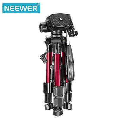 Neewer Red Mini Travel Tabletop Camera Tripod 62cm with 3-Way Swivel Pan Head 8