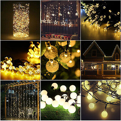 20 360 led lichterkette weihnachten innen au en beleuchtung party garten deko eur 9 49. Black Bedroom Furniture Sets. Home Design Ideas