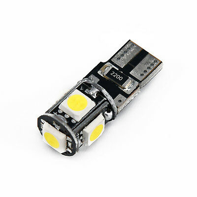 10x 6500k White Canbus Error Free Car T10 W5w 168 2825 Led5 Smd Wedge Light Bulb 5