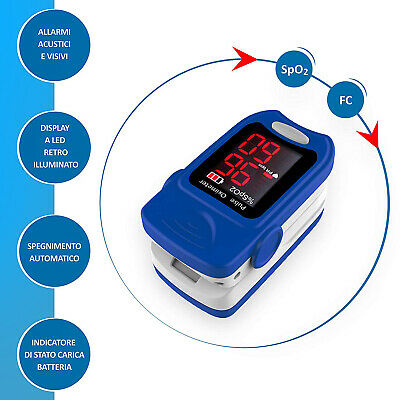 Misuratore Di Ossigeno Professionale Portatile Da Dito Pulsossimetro Saturimetro 5