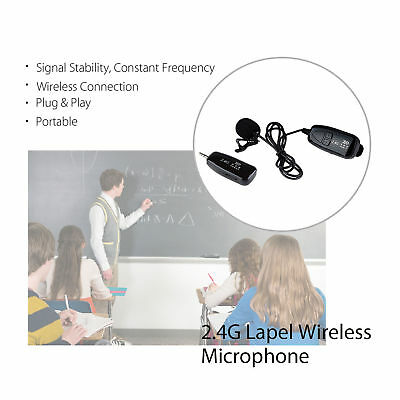 PRO 2.4G Wireless Microphone Lapel-on Voice Amplifier MIC Receiver & Transmitter 6