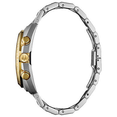 Bulova CURV Men's Quartz Chronograph Gold Tone Accents 43mm Watch 98A157 2