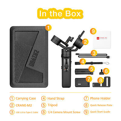 Zhiyun Crane M2 3-Axis Handheld Gimbal for Sony A6000/A6300/A6400 GoPro 7/6/5 12