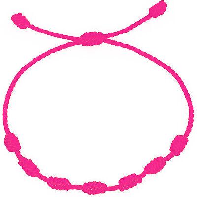 Pulsera roja de 7 nudos de la suerte para hombre o mujer de hilo bracelets 8