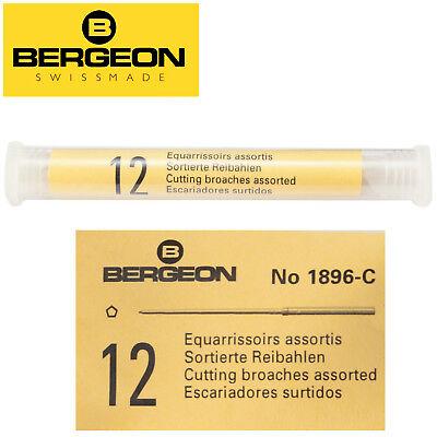 Bergeon 1896-E Set Of 12 Cutting Broaches Ø0.20mm HB1896E Ø1.00mm