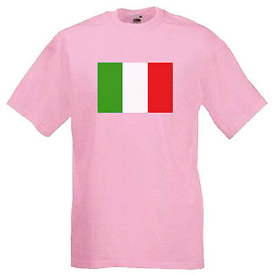 ITALIAN FOOTBALL FLAG CHILDREN/'S UNISEX T-SHIRT Cup Italy World Kids