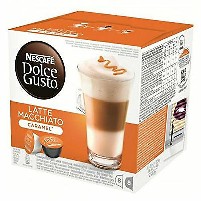 Dolce Gusto Latte Machiato Caramel Coffee 6 Boxes,Total 96 Capsules 48 Servings 2