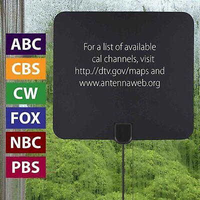 [980 Miles] Clear Indoor Digital TV HDTV Antenna [2019 Latest] UHF/VHF/1080p 4K 5
