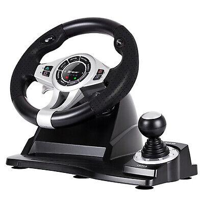 Lenkrad 4 in 1 für PC/PS3/PS4/Xone 2-Pedalset Ganghebel 270-Grad-Rotati 5