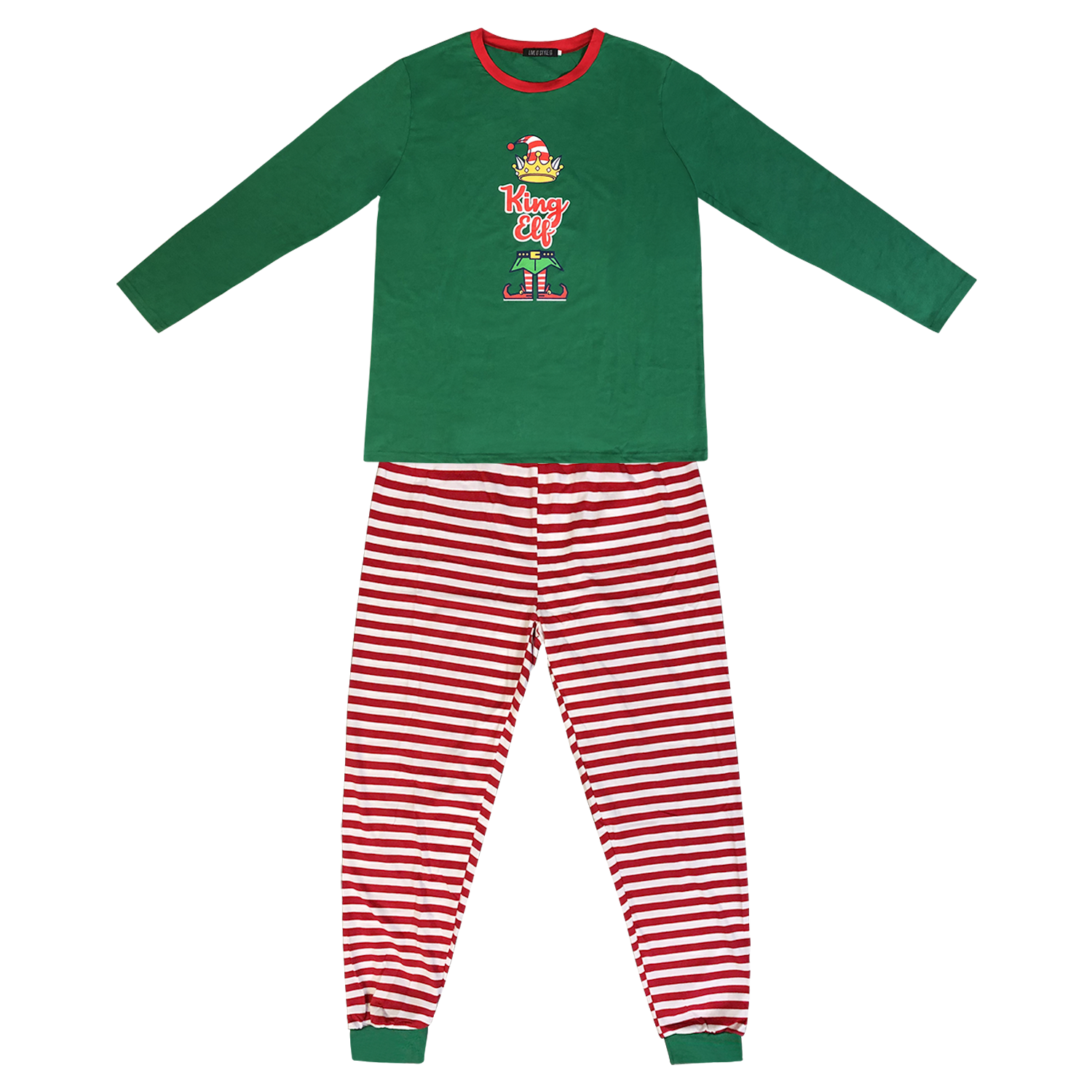 Family Matching Christmas Pyjamas Elf Pajamas Kids Boys Xmas Pjs Girls Nightwear 2