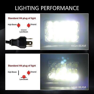 4pcs 4x6 LED Headlights for Kenworth T400 T600 T800 W900L W900B Classic 120/132 5