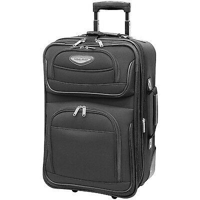 Amsterdam 2pc Carry-on Expandable Rolling Luggage Suitcase Tote Bag Travel Set 7
