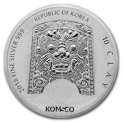 2018 South Korea 10 oz Silver Chiwoo Cheonwang BU - SKU#176409