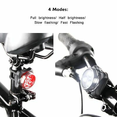 Waterproof Bicycle Bike Lights Front Rear Tail Light Lamp USB Rechargeable IPX4 7