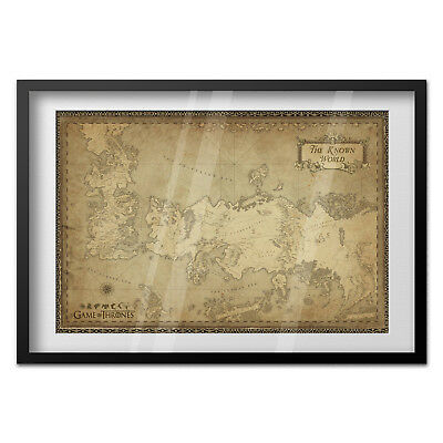 Game of Thrones Poster - Westeros Map - Exclusive Design 2
