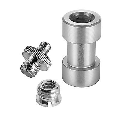 "Neewer 15 Pieces 1/4"" 3/8"" Metal Threaded Screw Convert Adapter for DSLR Camera"