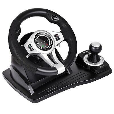 Lenkrad 4 in 1 für PC/PS3/PS4/Xone 2-Pedalset Ganghebel 270-Grad-Rotati 4