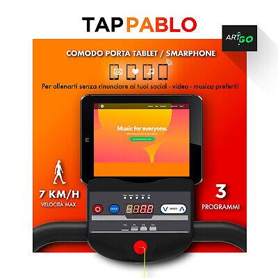 TAPIS ROULANT ELETTRICO PIEGHEVOLE 600 W (2,5 HP PICCO) ARTGO PABLO 7 Km/h MAX 4