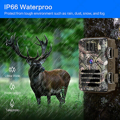 16MP Trail Camera IP66 Waterproof Outdoor Hunting Cam with No Glow Night Vision 4
