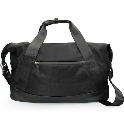 Roberto Cavalli CLASS weekend travel bag duffle bag of black nylon leopard print 5