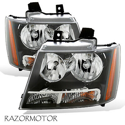 2007-2014 Replacement Headlight Pair For Chevy Suburban/Tahoe/Avalanche W/ Bulb 2