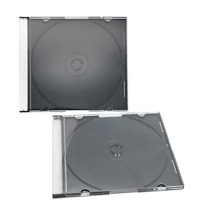 50 x CD Slim Hüllen Leerhüllen 1Fach 5mm 142x125x5,2mm