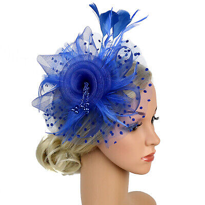 Ladies' Day Fascinator Hat Cocktail Tea Party Headband Women Wedding Hair Clip 10