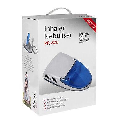 Inhalator Inhaliergerät Inhalation Vernebler Komplettset Aerosol Kompressor NEU 6