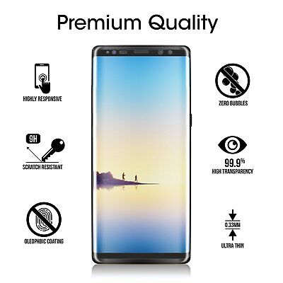 Full Tempered Glass Screen Protector Samsung Galaxy S7 Edge S8 S9+ Note 8 9 10+ 4