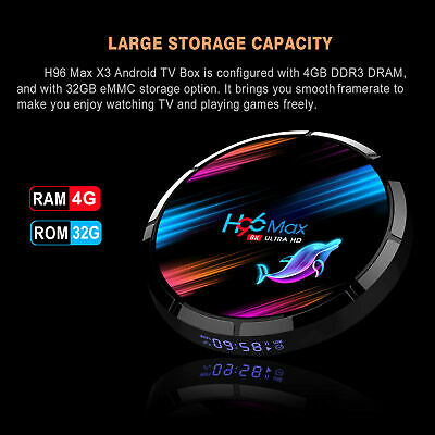 2020 H96 MAX X3 4GB+32GB Android 9.0 TV Box Smart Amlogic S905X3 Dual WIFI BT UK 9