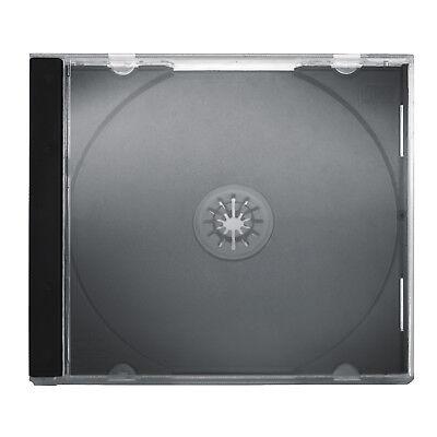 1 Fach CD Jewelcase Leere Hüllen CD Hülle Schwarz 50 stk