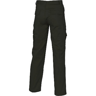 Mens Cargo Pants Work Pants Cotton Drill 8 Pockets Black Navy Heavy Duty UPF50 5