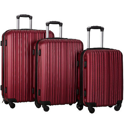 Merax Hylas 3 Piece Hardshell Spinner Luggage Travel Set ABS Trolley Suitcase 5