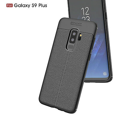 For Samsung Galaxy S9 S8+ Note 8 Ultra Thin PU Leather Soft TPU Shockproof Case