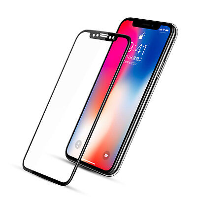 For Apple iPhone X XS Max XR Full Coverage Tempered Glass Screen Protector 3D