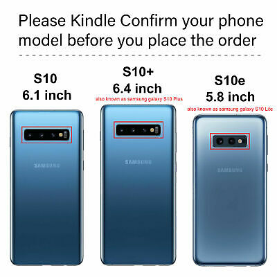 For Samsung S10/S10Plus/S9/S8+ Note8/9 Magnetic case Metal Tempered Glass Cover 10