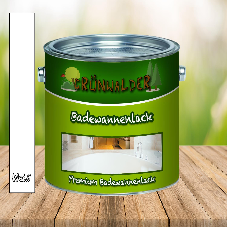 Grünwalder PREMIUM 2K Badewannenlack 2-K Badewannenbeschichtung GFK FARBAUSWAHL 5