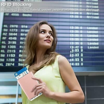 RFID Blocking Passport Holder ID Card Travel Wallet Organizer Cover Case 4